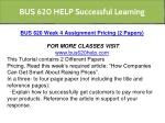 bus 620 help successful learning 11