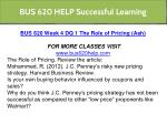 bus 620 help successful learning 12