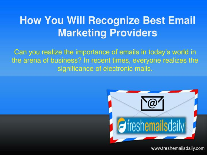 how you will recognize best email marketing providers n.