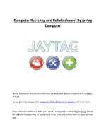 computer recycling and refurbishment by jaytag