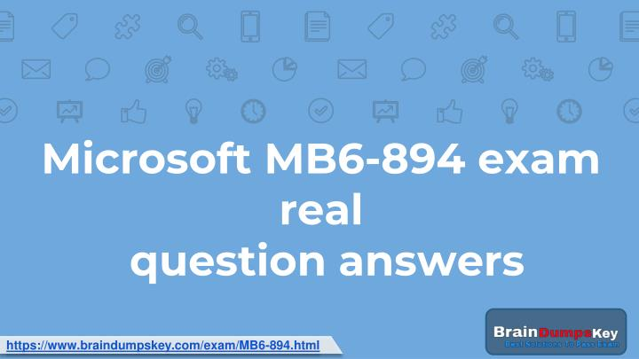 microsoft mb6 894 exam real question answers n.