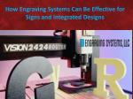 how engraving systems can be effective for signs