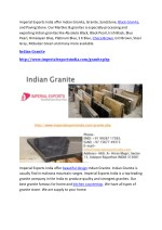 imperial exports india offer indian granite