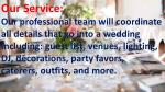 our service our professional team will coordinate