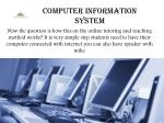computer information system