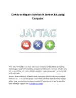 computer repairs services in london by jaytag