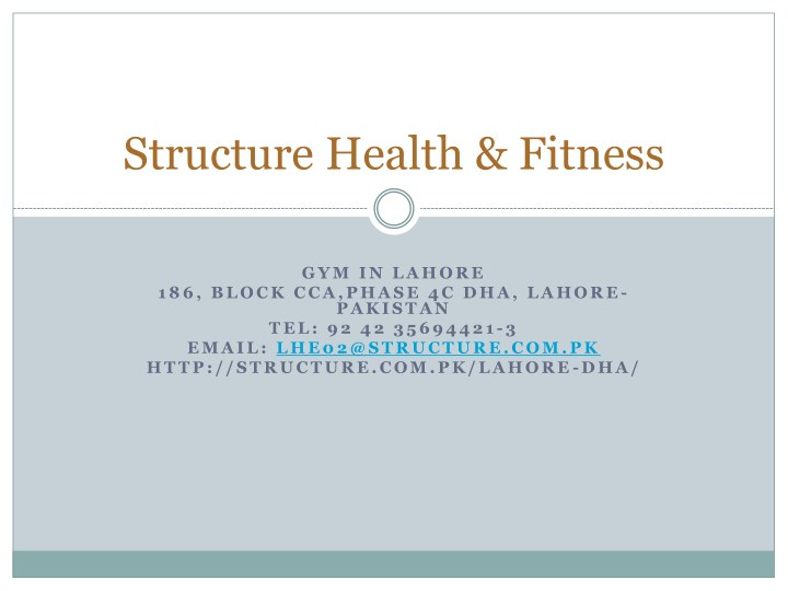 structure health fitness n.