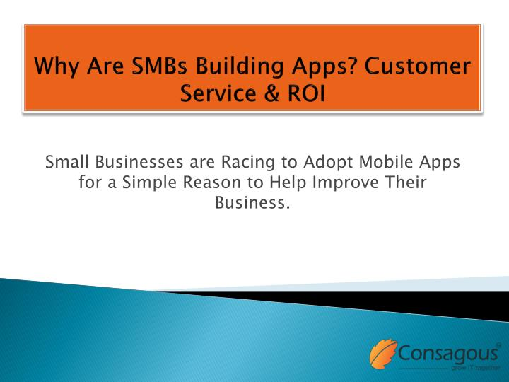 why are smbs building apps customer service roi n.