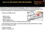 about us we coach you for success