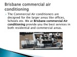 the commercial air conditioners are designed