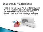 time to maintain your air conditioner system from