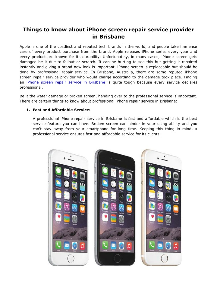 things to know about iphone screen repair service n.