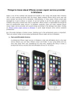 things to know about iphone screen repair service