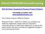 bus 642 homework successful learning 11
