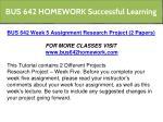 bus 642 homework successful learning 14