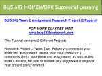 bus 642 homework successful learning 5