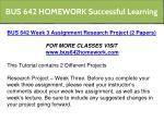 bus 642 homework successful learning 8