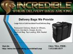 delivery bags we provide