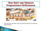 how start ups measure programmers performance