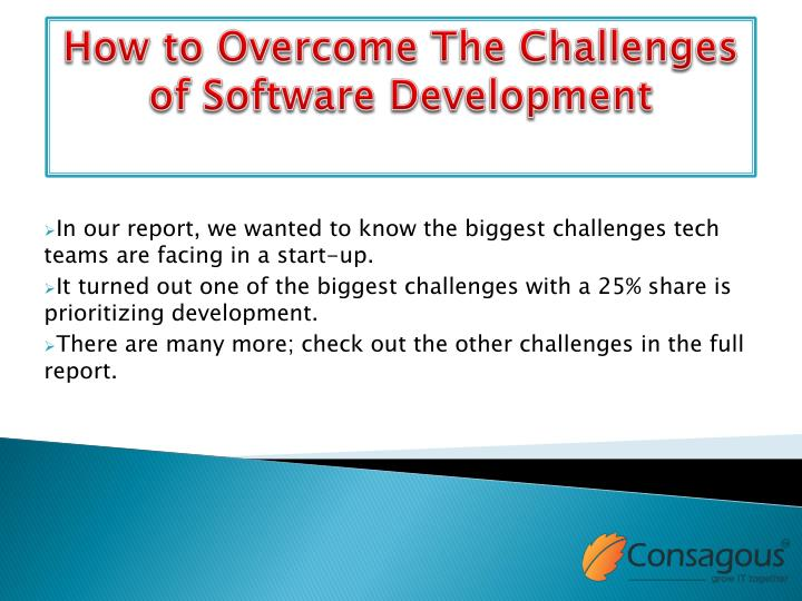 how to overcome the challenges of software development n.