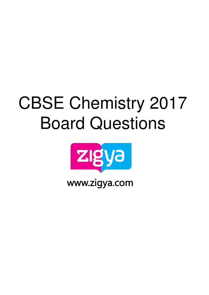 cbse chemistry 2017 board questions n.
