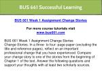 bus 661 successful learning 20