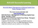 bus 650 successful learning 10