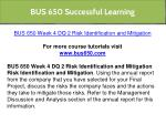 bus 650 successful learning 13