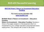 bus 650 successful learning 6