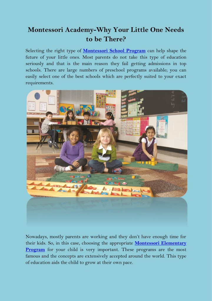 montessori academy why your little one needs n.