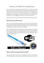 ethernet vs wi fi which one is the better choice