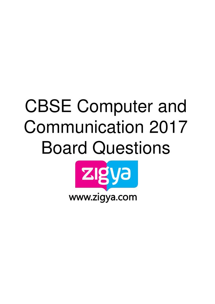 cbse computer and communication 2017 board n.