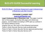 bus 670 guide successful learning 3