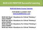 busi 620 mentor successful learning