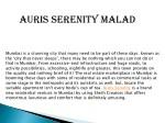 auris serenity malad