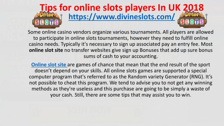 tips for online slots players in uk 2018 n.