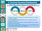 3 develop p ersonal r elationship