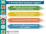 4 provide best customer support