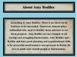 about amy rodiles