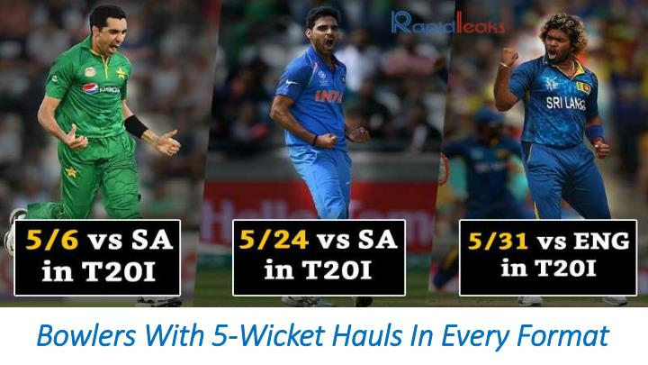 bowlers with 5 wicket hauls in every format n.