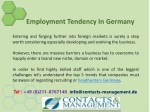employment tendency in germany 1