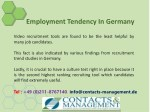 employment tendency in germany 10