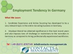employment tendency in germany 11