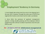 employment tendency in germany 12