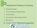 employment tendency in germany 2