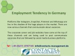 employment tendency in germany 6