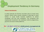 employment tendency in germany 8