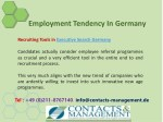 employment tendency in germany 9
