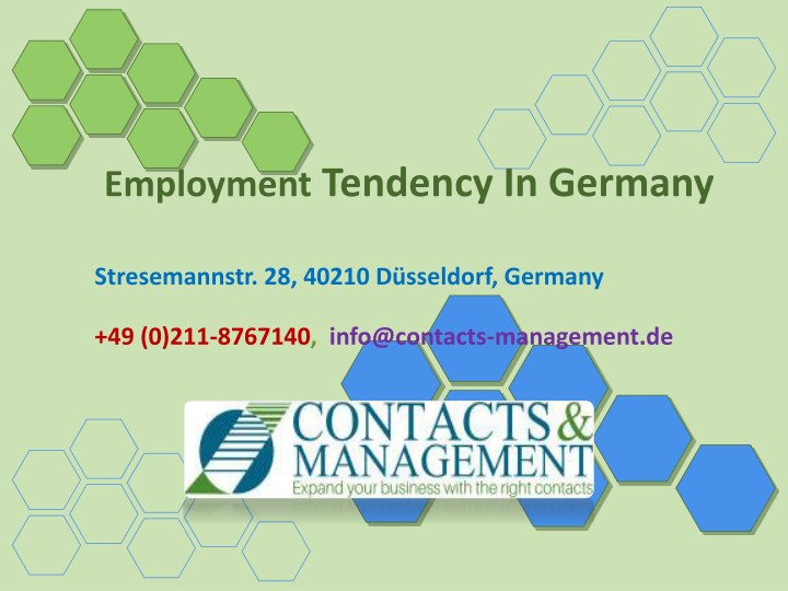 employment tendency in germany n.