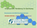 employment tendency in germany